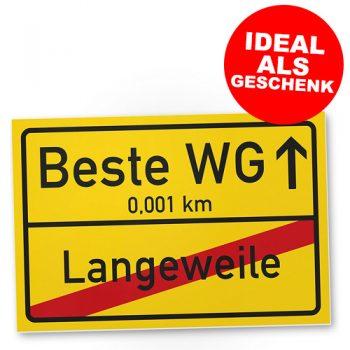 Beste WG Ortsschild (20*30cm)