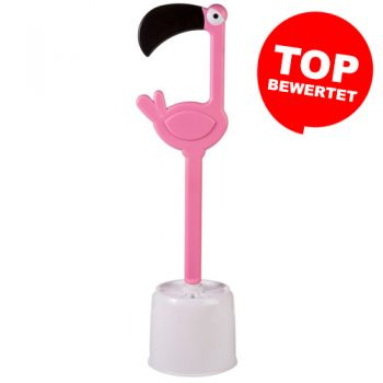 WC-Bürste in Flamingo-Optik