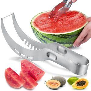 Melonen schneiden - auch ohne Schweinerei